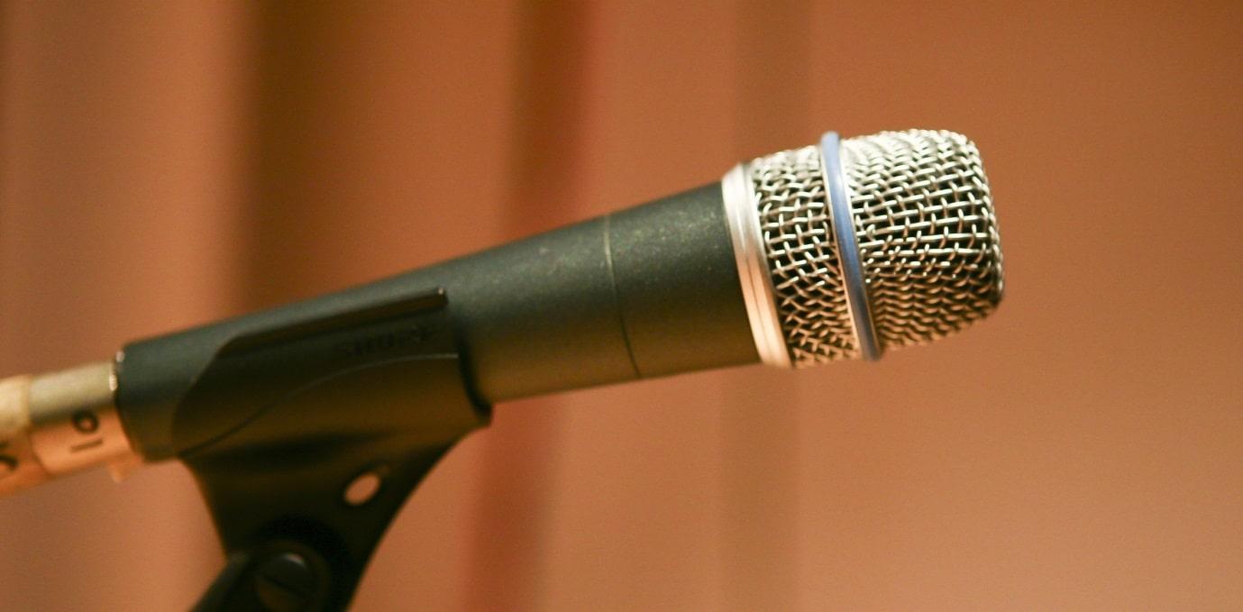 演歌歌手のマイク